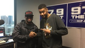 Clayton English and DJ Kayotik at 97.9 The Beat